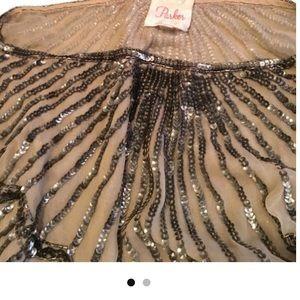 Parker silk sequined blouse